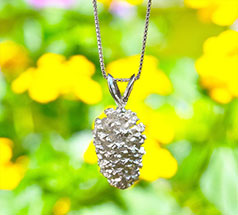 Silver Chain Necklace with Charm